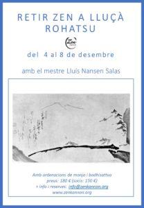 Dojo Zen | Budismo Zen en Barcelona | 2021/12/04 Retir de meditació zen a Lluçà. Rohatsu del 4 al 8 de desembre